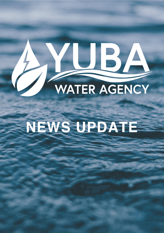 Water with Yuba Water Agency logo and News Update text