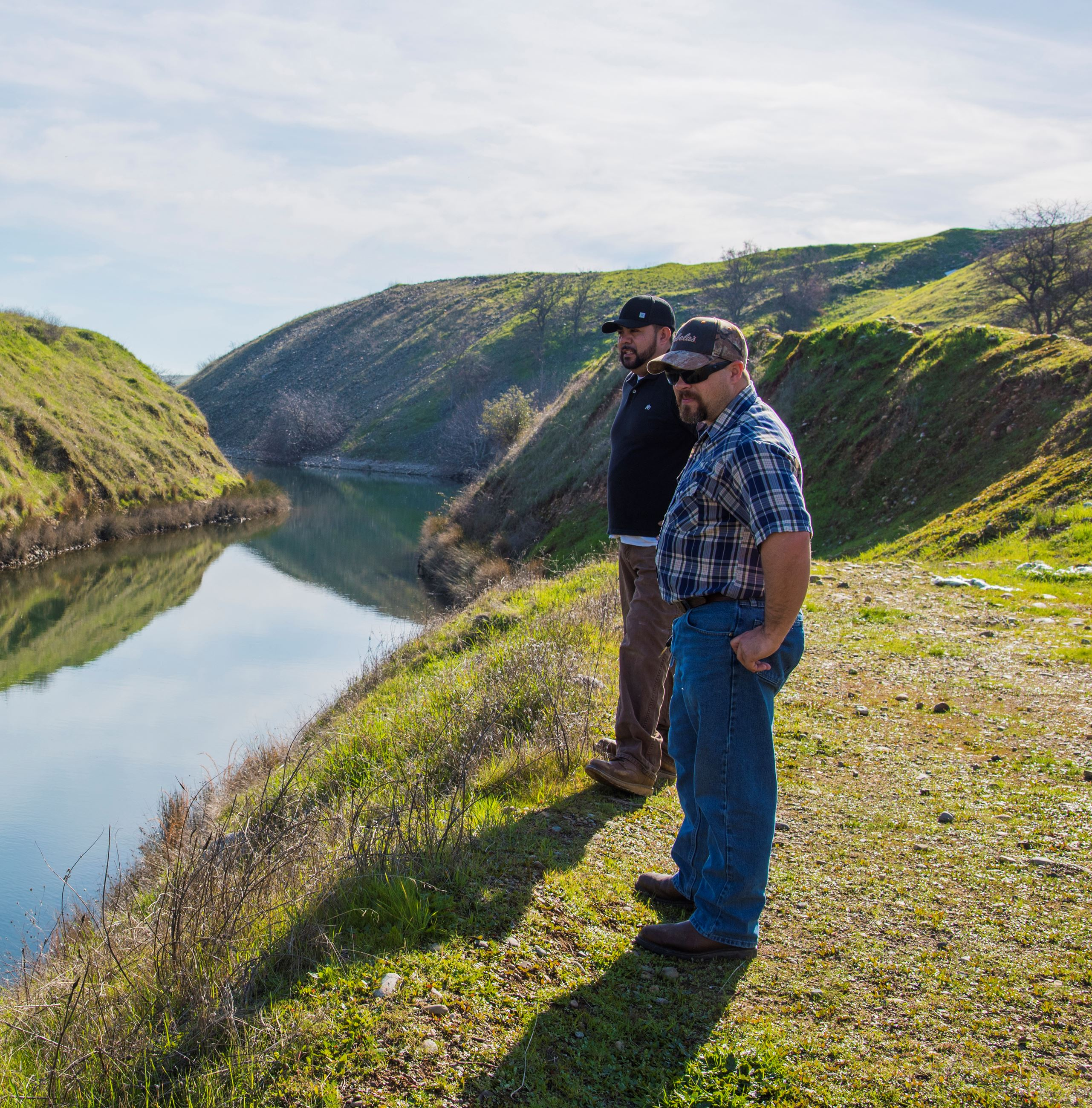 Yuba Water Agency's senior ditch tenders look out over a canal in Yuba County.